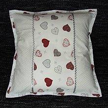 Úžitkový textil - Strieborné variácie srdiečka a bodky - vankúš(1) 40x40 - 8452038_