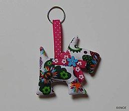 Kľúčenky - Prívesok na kľúče - pestrofarebný psík - 8452694_