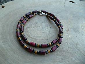 Náhrdelníky - pánsky drevený náhrdelník - 8453285_