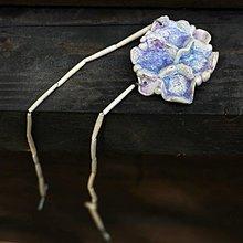 Náhrdelníky - náhrdelník fialka - 8453804_
