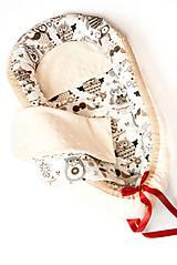 - _HAJI... hniezdo pre bábätká... obojstranné... Marhuľové MINKY & Francúzske sovičky - 8454018_