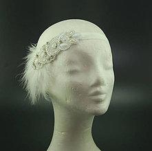 Ozdoby do vlasov - Great Gatsby Bride ... čelenka - 8455728_