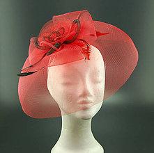Ozdoby do vlasov - RED ... klobouk či fascinator - 8455755_