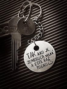Kľúčenky - Tak ako je zemeguľa veľká a ešte raz toľko ... - 8456424_