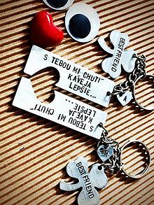 Kľúčenky - BEST FRIEND ... s Tebou mi chutí kaveja lepšie :) - 8456449_