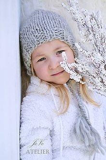 Detské čiapky - Teplučký čepček na zimu - 8457429_