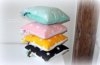 Textil - Hviezdičkový vankúšik s wellsoft fleece 30x30cm - 8454368_