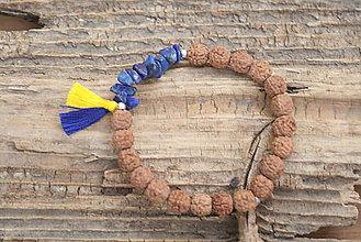 Náramky - Náramok rudraksha a lapis lazuli - 8456868_