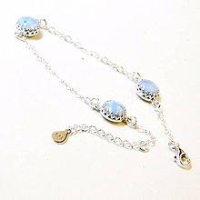 Náramky - Vintage Larimar Silver Bracelet ag 925 / Strieborný náramok s larimarom /0529 - 8454477_