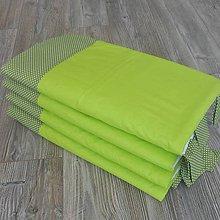 Úžitkový textil - Zástena bez vreciek *Zelená* - 8453829_
