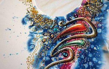 Tričká - dúha v zlate - tričko - 8456956_