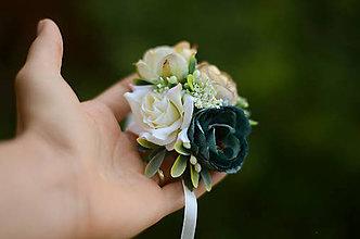 Náramky - Smaragdová ruža - 8454496_