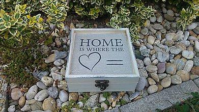 Krabičky - drevená krabička - šperkovnica - vintage - 8456398_