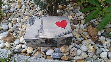 Krabičky - drevená krabička - šperkovnica - vintage - 8456451_