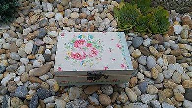 Krabičky - drevená krabička - šperkovnica - 8456494_