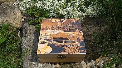 Krabičky - drevená krabička - 8456521_