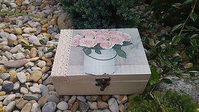 Krabičky - drevená krabička - šperkovnica - 8456560_