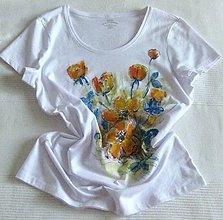 Tričká - Oranžové kvety - 8454164_