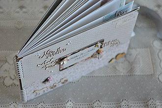 Papiernictvo - Originálny romantický svadobný fotoalbum - 8455607_