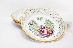 Nádoby - Farebný čipkovaný dvojradový tanier - 8454263_