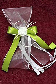 Kytice pre nevestu - Svadobná mašľa na auto - 8456720_