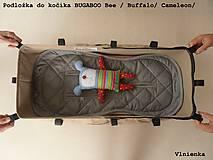 Textil - Bugaboo Seat Liner ARMY by Diesel/ Podložka do kočíka HNEDÁ Camel kaki Elegant prešitie na mieru - 8453932_