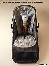 Textil - Bugaboo Seat Liner ARMY by Diesel/ Podložka do kočíka HNEDÁ Camel kaki Elegant prešitie na mieru - 8453933_