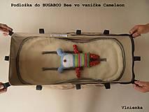 Textil - Bugaboo Seat Liner ARMY by Diesel/ Podložka do kočíka HNEDÁ Camel kaki Elegant prešitie na mieru - 8453934_