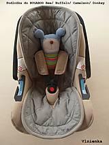 Textil - Bugaboo Seat Liner ARMY by Diesel/ Podložka do kočíka HNEDÁ Camel kaki Elegant prešitie na mieru - 8453940_