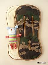 Textil - Bugaboo Seat Liner Camouflage ARMY by Diesel/ Podložka do kočíka MASKÁČ na mieru - 8457242_