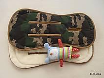 Textil - Bugaboo Seat Liner Camouflage ARMY by Diesel/ Podložka do kočíka MASKÁČ na mieru - 8457246_