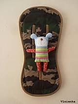 Textil - Bugaboo Seat Liner Camouflage ARMY by Diesel/ Podložka do kočíka MASKÁČ na mieru - 8457299_