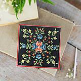 Krabičky - Ručne maľovaná šperkovnica Anna Rosemaling (V2.5 cm, D14 cm, Š14 cm, metalicke zapinanie) - 8455300_