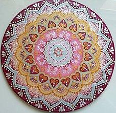 Dekorácie - Mandala pre šťastné partnerstvo a lásku - 8453935_