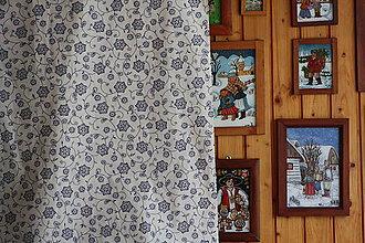 Úžitkový textil - Obrus. Folklórny motív modrobiely. - 8454038_
