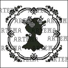 Návody a literatúra - B015 Dáma v klobúku2 - predloha na vyšívanie - 8457006_