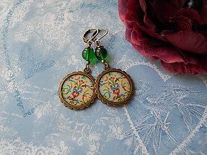 Náušnice - Pôsobivý ornament - ZĽAVA zo 4,50 eur - 8454584_