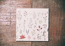 Leporelo 13x13 ,,Jesenný minimal,,
