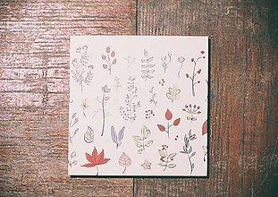 Papiernictvo - Leporelo 13x13 ,,Jesenný minimal,, - 8455785_