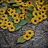 Slnečnica - dekoračný materiál - sada 50 ks
