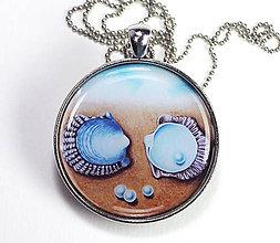 Náhrdelníky - Mušle a perly - náhrdelník s obrázkom - 8454697_