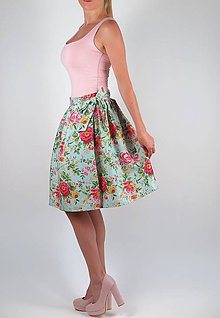 Sukne - Luxusná zavinovacia sukňa Rose - 8456428_