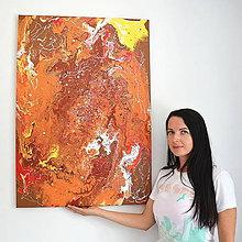 Obrazy - Veľká Oranžová Abstrakcia - 8455987_