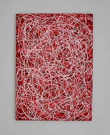 Obrazy - Červená abstrakcia - 8456233_