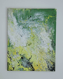 Obrazy - Zelená abstrakcia - 8456243_