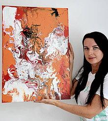 Obrazy - Oranžová abstrakcia - 8456272_