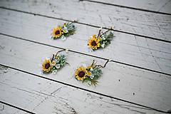 Ozdoby do vlasov - Kvetinová mini sponka