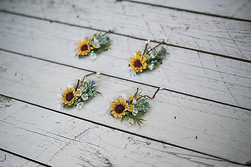 """Kvetinová mini sponka """"lány žltých slnečníc"""""""