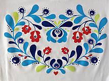 Folkové dámske maľované tričko (Pestrofarebné tieňované)