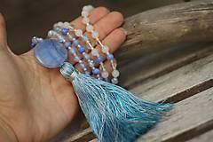 - Japa Mala náhrdelník z minerálov so strapcom - 8454178_